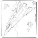 Allerhand Ausmalbilder - Saab J 35 F Draken