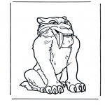 Ausmalbilder Tiere - Säbelzahntiger