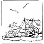 Ausmalbilder Comicfigure - Samson und Gert 2