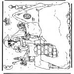 Basteln Stechkarten - Sankt Nikolaus 10