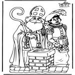Basteln Stechkarten - Sankt Nikolaus 11