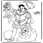 Basteln Stechkarten - Sankt Nikolaus 12