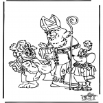 Basteln Stechkarten - Sankt Nikolaus 13