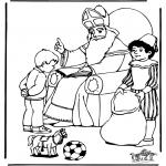Basteln Stechkarten - Sankt Nikolaus 14