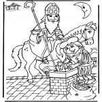Basteln Stechkarten - Sankt Nikolaus 15