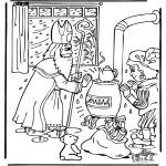 Basteln Stechkarten - Sankt Nikolaus 18