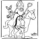 Basteln Stechkarten - Sankt Nikolaus 25