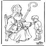 Basteln Stechkarten - Sankt Nikolaus 27