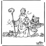 Basteln Stechkarten - Sankt Nikolaus 28