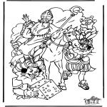 Basteln Stechkarten - Sankt Nikolaus 29