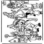 Basteln Stechkarten - Sankt Nikolaus 31