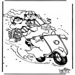 Basteln Stechkarten - Sankt Nikolaus 32