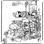 Basteln Stechkarten - Sankt Nikolaus 34