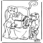Basteln Stechkarten - Sankt Nikolaus 37