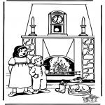 Basteln Stechkarten - Sankt Nikolaus 39