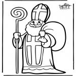 Basteln Stechkarten - Sankt Nikolaus 4
