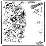 Basteln Stechkarten - Sankt Nikolaus 40