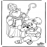 Basteln Stechkarten - Sankt Nikolaus 42