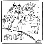 Basteln Stechkarten - Sankt Nikolaus 43