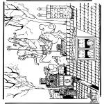 Basteln Stechkarten - Sankt Nikolaus 45