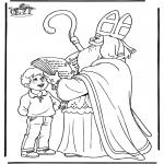 Basteln Stechkarten - Sankt Nikolaus 48