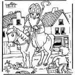 Basteln Stechkarten - Sankt Nikolaus 5