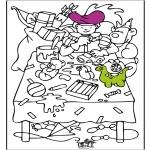 Basteln Stechkarten - Sankt Nikolaus  53
