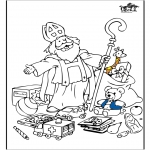 Basteln Stechkarten - Sankt Nikolaus 55