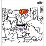Basteln Stechkarten - Sankt Nikolaus 56