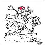 Basteln Stechkarten - Sankt Nikolaus 58
