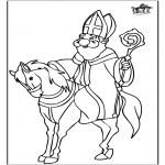 Basteln Stechkarten - Sankt Nikolaus 59