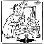 Basteln Stechkarten - Sankt Nikolaus 6