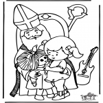 Basteln Stechkarten - Sankt Nikolaus 7