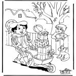 Basteln Stechkarten - Sankt Nikolaus 8