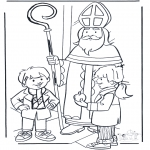 Basteln Stechkarten - Sankt Nikolaus basteln