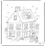 Basteln Stechkarten - Sankt Nikolaus bringt Geschenke