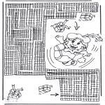 Malvorlagen Basteln - Sankt Nikolaus Labyrinth