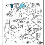 Basteln Stechkarten - Sankt Nikolaus - Malvorlagen 2