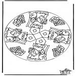 Basteln Stechkarten - Sankt Nikolaus Mandala