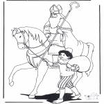Basteln Stechkarten - Sankt Nikolaus, Peter, Americo