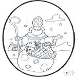 Basteln Stechkarten - Sankt Nikolaus Stechkarte 1