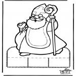 Basteln Stechkarten - Sankt Nikolaus Stechkarte   10