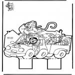 Basteln Stechkarten - Sankt Nikolaus Stechkarte   11