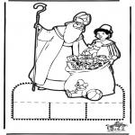 Basteln Stechkarten - Sankt Nikolaus Stechkarte   13