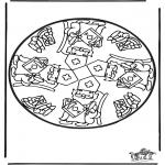 Basteln Stechkarten - Sankt Nikolaus Stechkarte   14