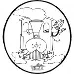 Basteln Stechkarten - Sankt Nikolaus Stechkarte   15