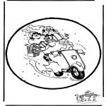 Basteln Stechkarten - Sankt Nikolaus Stechkarte   16