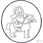 Basteln Stechkarten - Sankt    Nikolaus Stechkarte 3