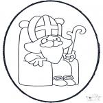 Basteln Stechkarten - Sankt Nikolaus Stechkarte 4