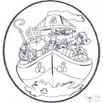 Basteln Stechkarten - Sankt Nikolaus Stechkarte 5
